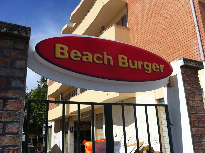 insegna luminosa fast food fano publi in